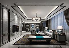 中式会客厅模型3d模型