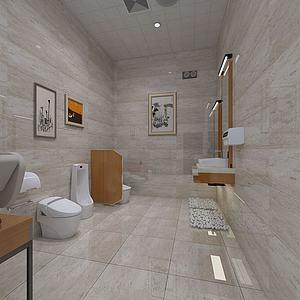 衛生間男廁模型3d模型