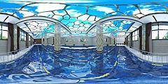 游泳館游泳池3D模型