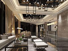 酒店大堂休息区模型3d模型