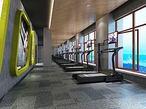 健身房大厅3d模型