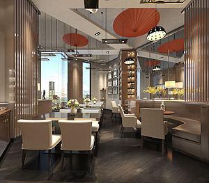 餐厅饭店场所3d模型