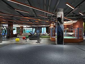 娱乐健身房3d模型