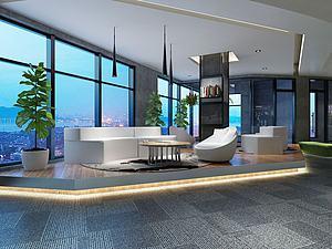 大厅休息区3d模型