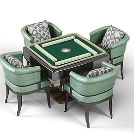 新式麻将桌模型