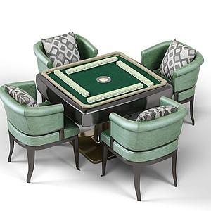 新式麻将桌模型3d模型