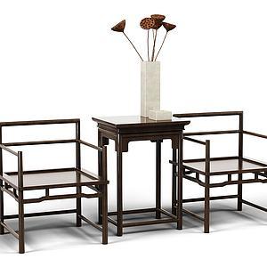 休闲桌椅组合模型3d模型