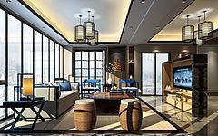 大堂客区休息区模型3d模型