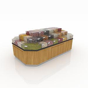3d超市粮食展示货架模型