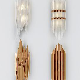 北欧壁灯组合模型