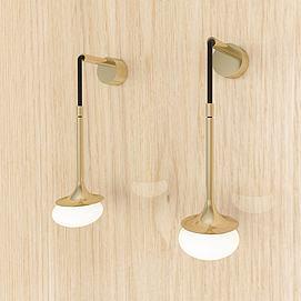 简约现代壁灯模型