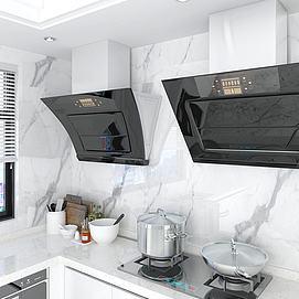 现代厨房抽烟机模型