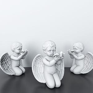 3d天使寶寶<font class='myIsRed'>雕塑</font>擺件模型