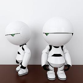 3d机器人玩具模型