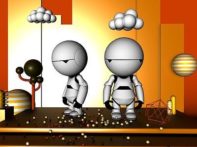 C4D機器人玩具模型