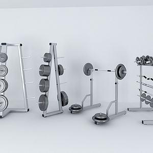 体育器材杠铃架子模型