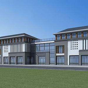 新中式商業建筑模型3d模型