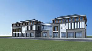新中式商业建筑3d模型