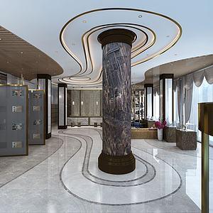 3d现代风格酒店模型