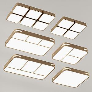 现代金属吸顶灯模型