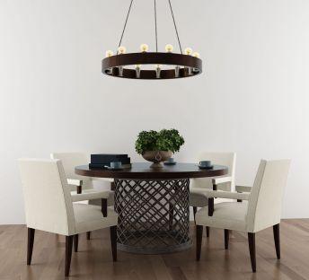 美式风格餐桌椅组合