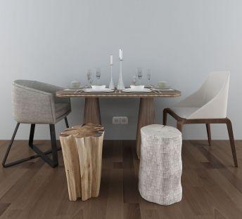 美式简约餐桌椅组合