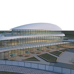 健身房大楼大厦模型3d模型