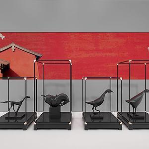 3d中式工艺动物摆件模型