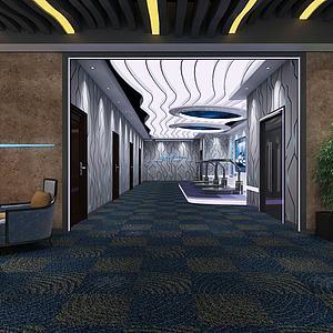 VR体验区展台科技展厅模型