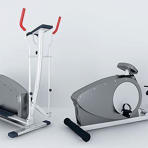 健身器材单人健骑机模型