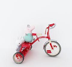 三轮车儿童玩具模型3d模型