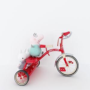 三轮车儿童玩具模型