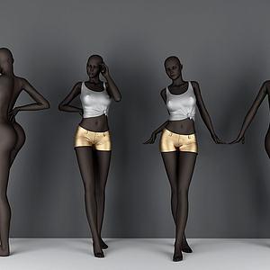 黑人模特模型