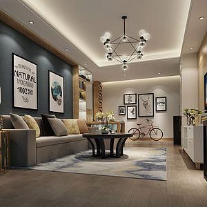 新现代客厅模型3d模型