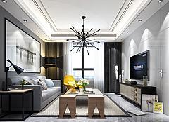 輕奢客廳沙發茶幾電視柜模型3d模型