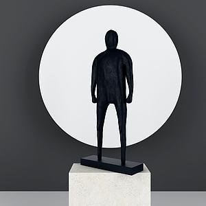 3d现代抽象人物<font class='myIsRed'>雕塑</font>摆件模型