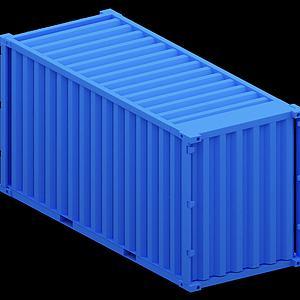 蓝色集装箱模型