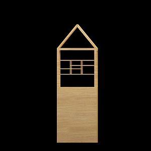 户外装饰木桌模型