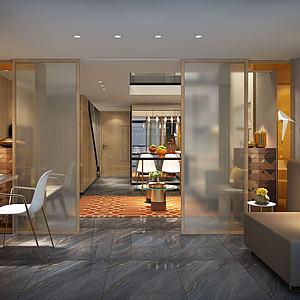 別墅書房客廳臥室模型3d模型