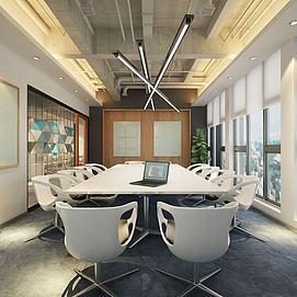 會議室現代風格模型