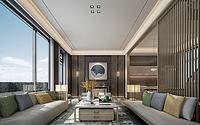 客厅木色沙发3d模型