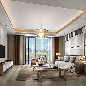 新现代客厅沙发躺椅3d模型