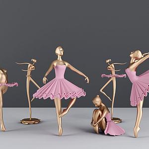 芭蕾女金属摆件模型