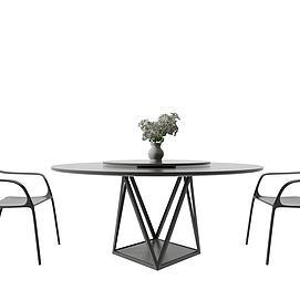 北欧简易桌椅模型