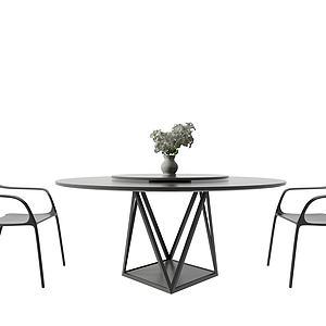 3d北欧简易桌椅模型