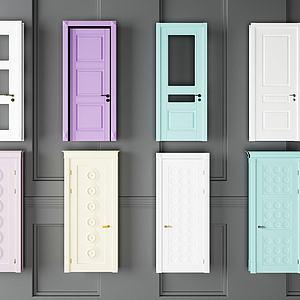 臥室門組合模型3d模型