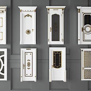 欧式卧室门模型