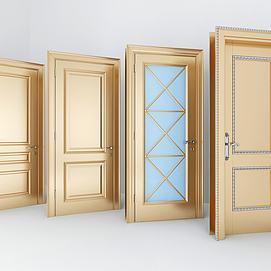 现代金属单开门组合模型