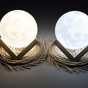 现代装饰灯模型