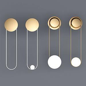 现代简约时尚壁灯模型